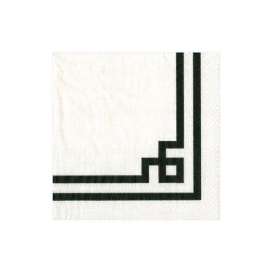 Cocktail Napkin - Rive Gauche Black & White - Opal and Olive