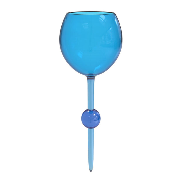 Cerulean Seas Acrylic Floating Wine Glass - Opal and Olive