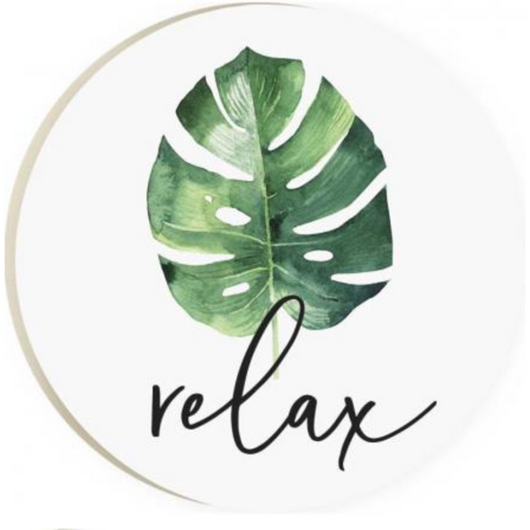 Relax Palm Car Coaster