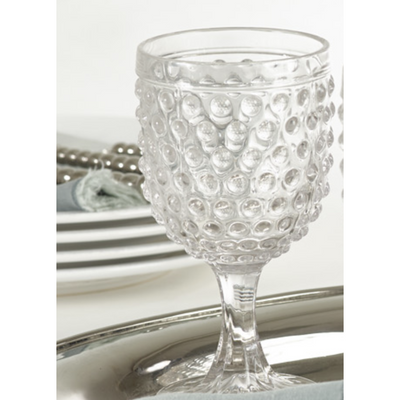 Hobnail Wine Glass - 11.84oz - Opal and Olive