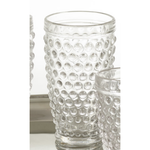 Hobnail High Ball Glass - 13.53oz - Opal and Olive