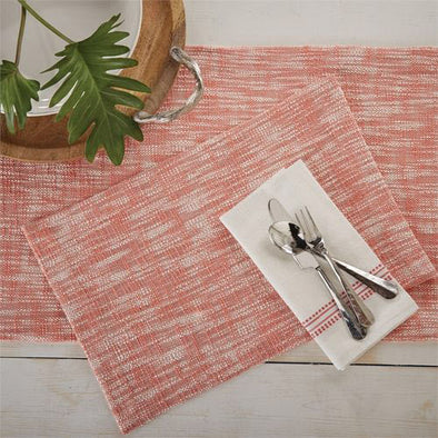 Milange Table Runner - Coral - Opal and Olive