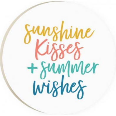 Sunshine Kisses Car Coaster