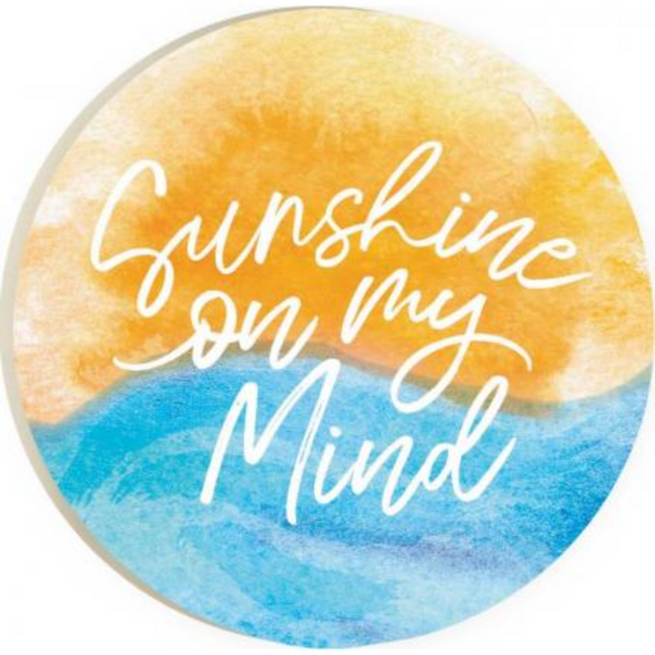 Sunshine on my Mind Car Coaster