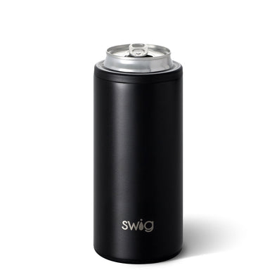 Skinny Can Cooler - Matte Black 12oz