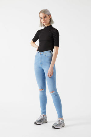 MOXY JEANS - Icicle blue ripped