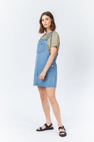 Eir Dungaree Dress - Day Shift Blue