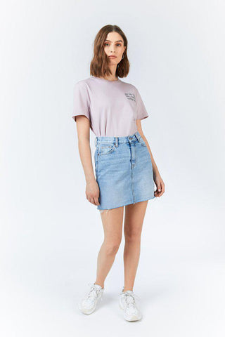 Mallory Denim Skirt  - Destiny Blue