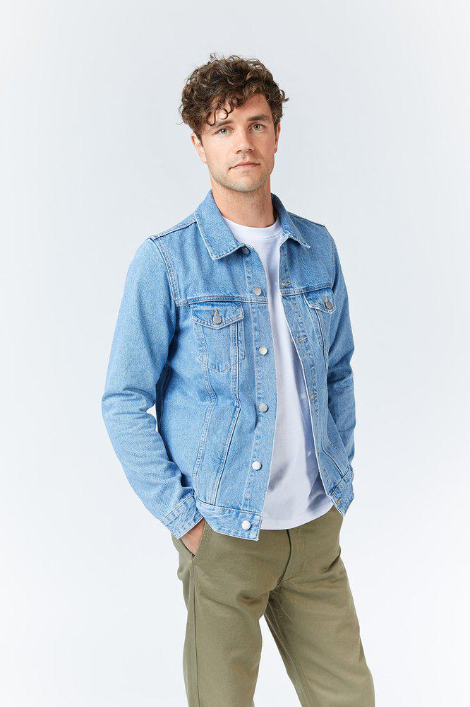 ROY JACKET - Light Blue Ridge Stone