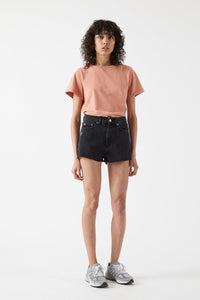 Skye Shorts - Charcoal Black Ripped