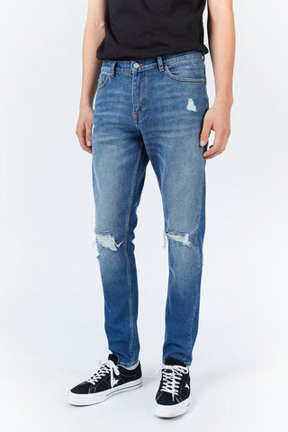 CLARK JEANS - Mid Indigo Blue Ripped