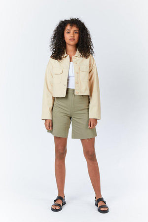 NEVADA CROPPED JACKET - Desert Sand