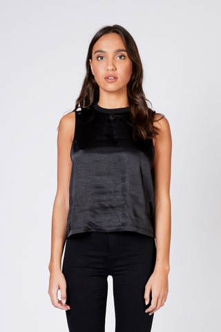 DESTINY TOP - Black Satin