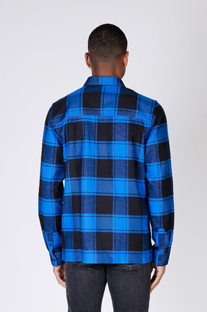 LUKE SHIRT - Blue Check