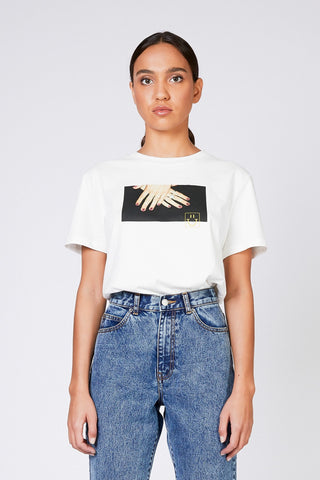 MELROSE TEE - White Polish