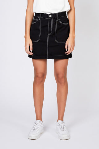TORI WORKER SKIRT - Black
