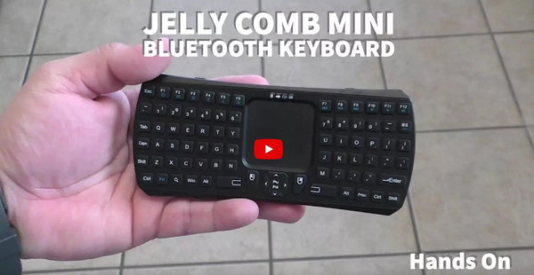 Jelly Comb Mini Bluetooth Keyboard Hands On
