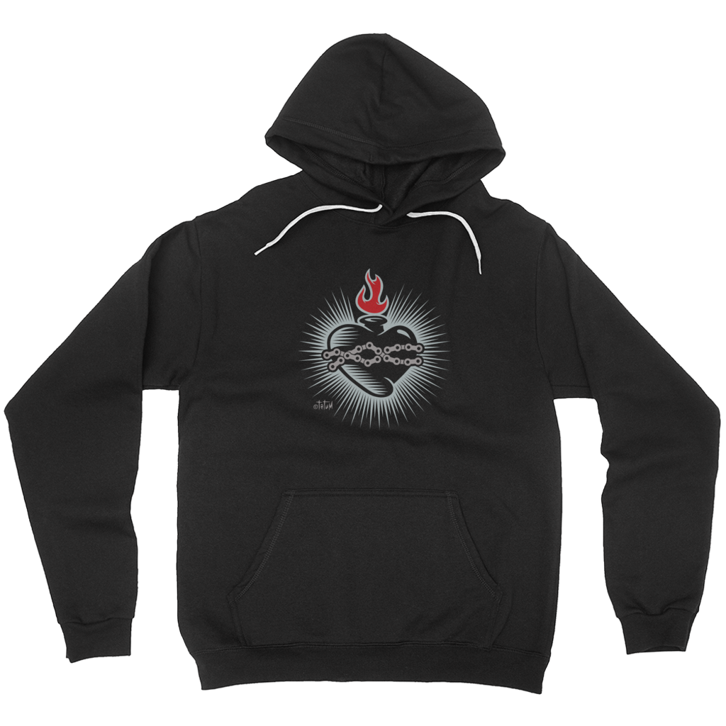Sacred Heart with Bicycle Chain Hoodies (No-Zip/Pullover) - Choice Goods Gallery