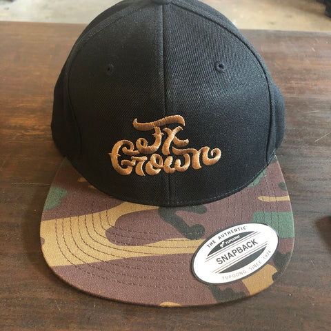 Tx Grown® Black with Camo Flat Bill