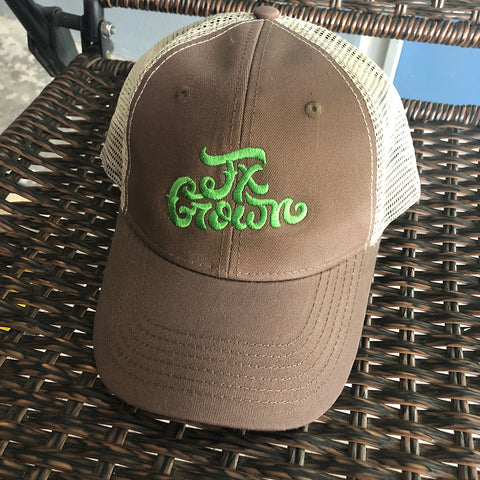Tx Grown® Brown/Khaki/Green Trucker Hat