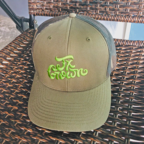 Tx Grown® Military Green/Camo Trucker Hat