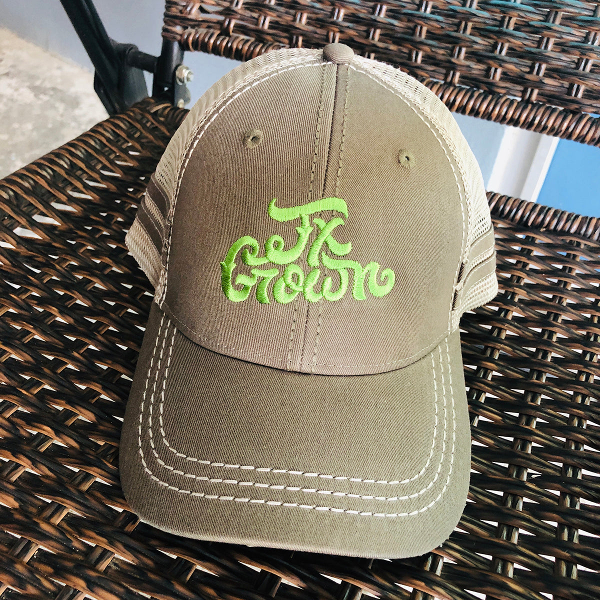 Tx Grown® Military Green Trucker Hat