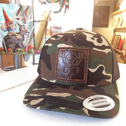 Jack-a-lope Camo Snapback Hat - Choice Goods Gallery