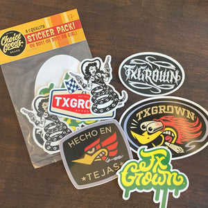 TX Grown® Sticker Pack