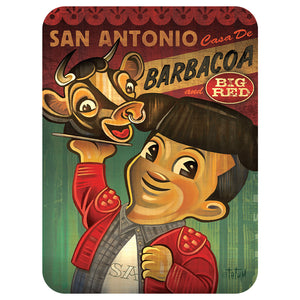Barbacoa Bob Glass Cutting Board Large - Choice Goods Gallery