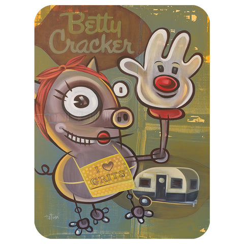 Betty Cracker Glass Cutting Board Large - Choice Goods Gallery