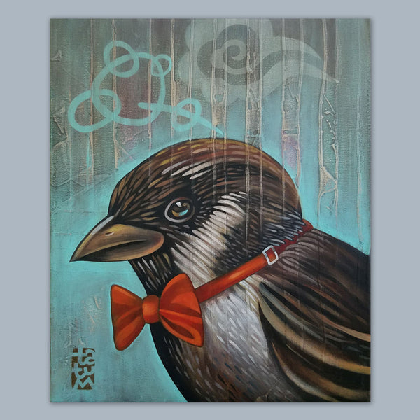 Bird with a Bowtie Fine Art Print
