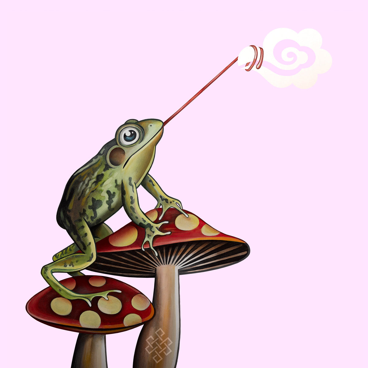Frog Catching Cloud Canvas Print - Choice Goods Gallery