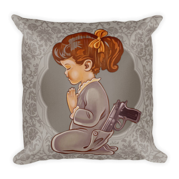 Girl with Gun Premium Pillow - Choice Goods Gallery