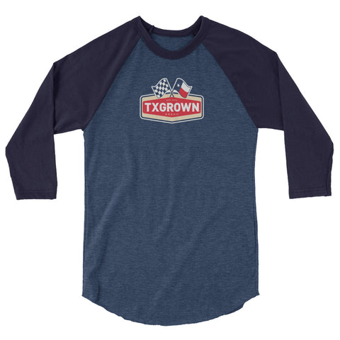 TX Grown® Racing Flag Baseball Tee