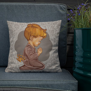 Boy with Brass Knuckles  Pillow - Choice Goods Gallery