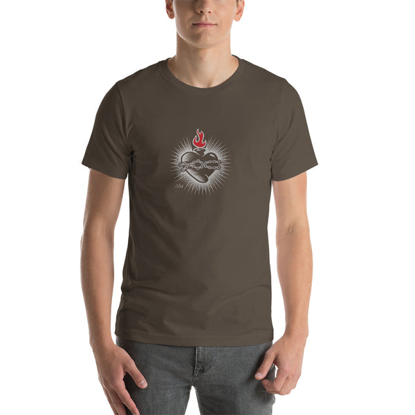 Sacred Heart with Bike Chain Tee - Choice Goods Gallery
