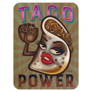 Taco Power Glass Cutting Board Large - Choice Goods Gallery