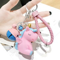 Cute Plush Pompom Unicorn Keychain