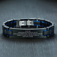 Personalize TO MY DAD Bracelets for Men
