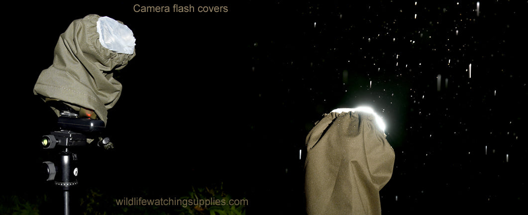 waterproof camera flash covers, ideal for camera traps and night photography, nature photography, wildlife photography, wireless camera triggers, high speed flash photography, birds in flight photography, owl photography