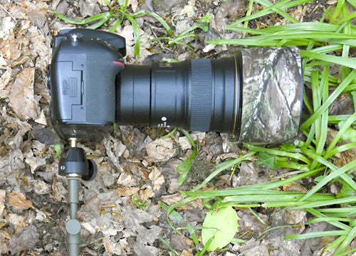Ground spike and mini ball head used as for trail cameras, camera traps and as a mono pod for macro photography, nature photography and low light photography