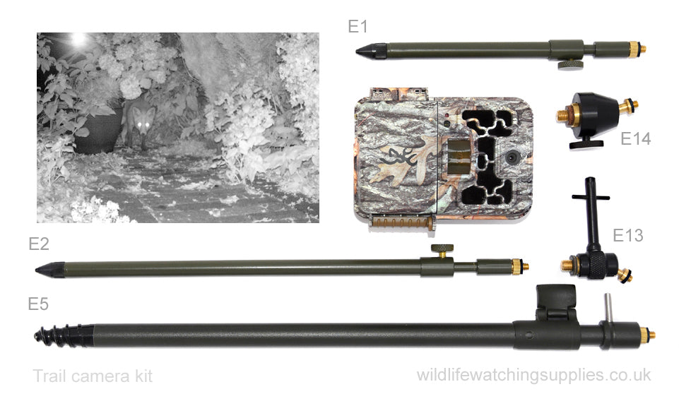 Our Ground Spikes are ideal for trail cameras and camertrap nature photography. Our Ground spike camera mounts can be used for remote triggers, flashguns and small cameras. The camera trap ground spikes can be screwed into the ground for a solid support, ideal for remote wildlife photography.