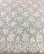 Fine Chantilly lace (1151) Ivory
