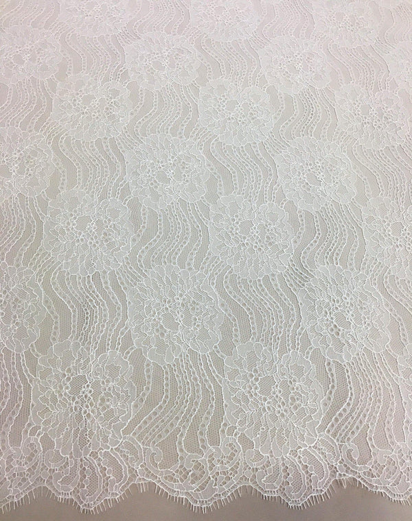 Fine Chantilly lace (1235) Greige