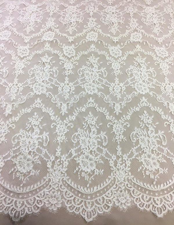 Fine corded lace (1268) Ivory