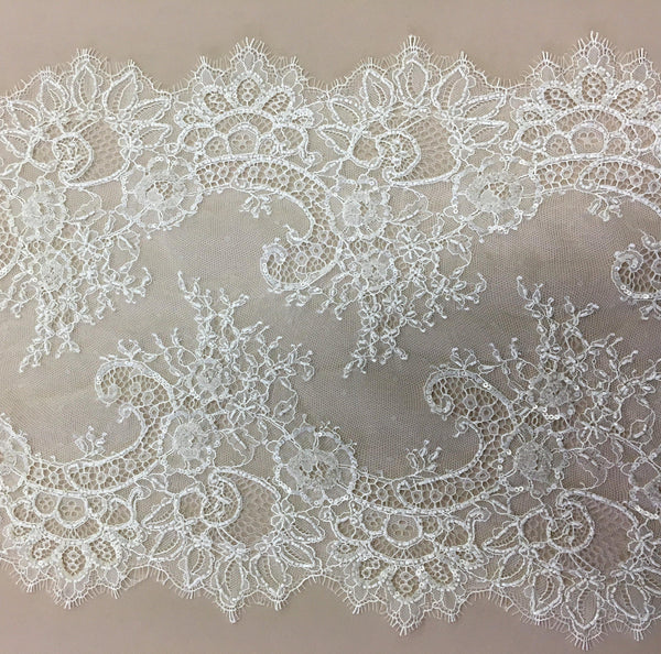 Beaded fine lace trim (1294bt) Ivory