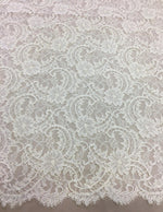 Fine corded lace (1303) Ivory