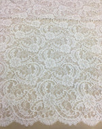 Fine corded lace (1303) White