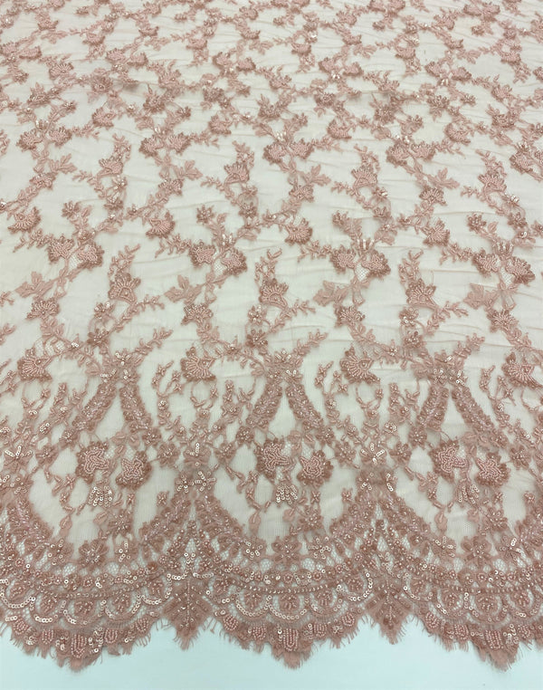 Beaded Fine lace (1375bd) Rose