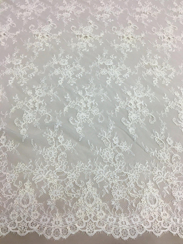Floral Corded Lace (1379) Ivory